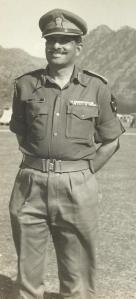 Brig. Reddy at the headquarters of his Mountain Brigade