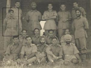 Capt. Reddy and friends, before the Hindi examinations