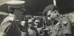 Brig. Reddy (left) in conversation with Gen. Manekshaw (later Field Marshal), then C in C, Indian Army